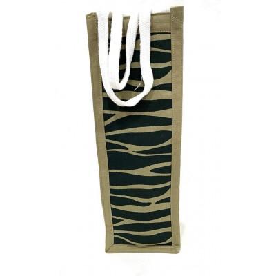 Camoflage Handwoven Bottle Bag