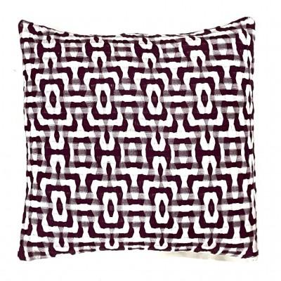 Multi Treadle Handwoven Cotton Cushion Cover