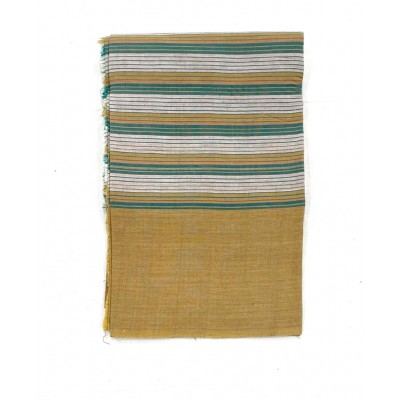 Mustard Striped Handwoven Cotton Tablecloth