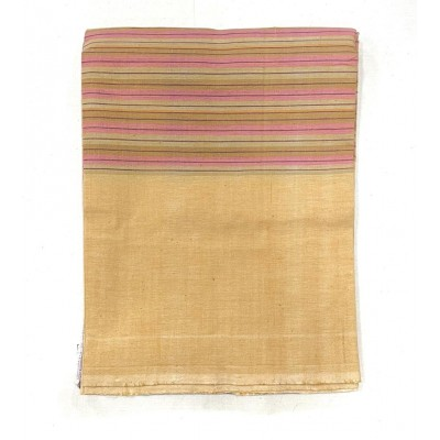 Yellow Striped Handwoven Cotton Tablecloth