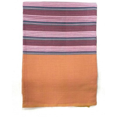 Pink & Maroon Striped Handwoven Cotton Tablecloth