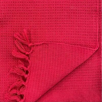 WAFFLE WEAVE COTTON HANDWOVEN TOWEL