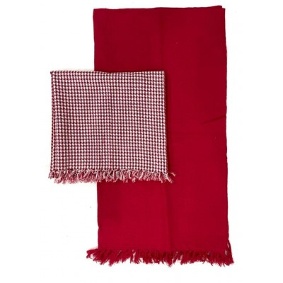WAFFLE WEAVE COTTON HANDWOVEN TOWEL- SET OF 2