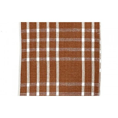 Brown checks handwoven cotton waffle weave towel
